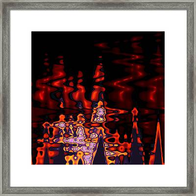 Abstract Fractals 1 Framed Print by Steve K