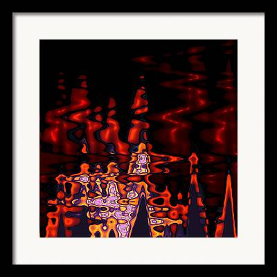 Abstract Digital Art Expressionism Impressionism Color Colorful River Framed Prints