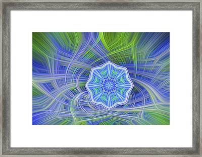 Abstract From Yexas Blue Bonnets Framed Print by Linda Phelps