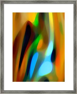 Abstract Garden Light Framed Print by Amy Vangsgard