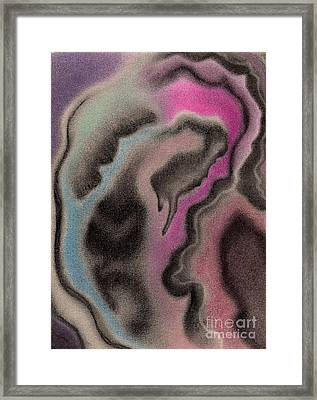 Abstract Geode 2 Framed Print by Christine Perry