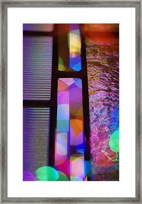 Abstract Geometry Framed Print by Lynn Vidler
