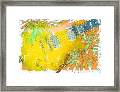Abstract Guitar Framed Print by David G Paul