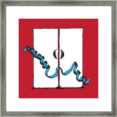 Abstract 'h' Framed Print by Michaela Mitchell