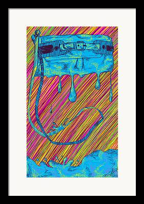 Abstract Handbag Drips Color Framed Prints