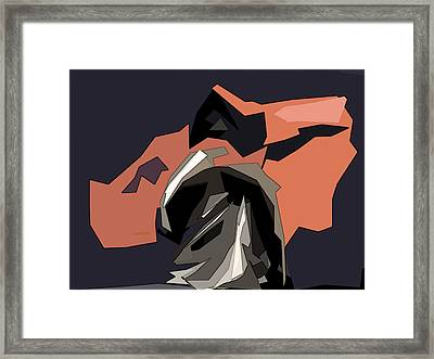 Abstract He Comes For Me Framed Print by David Dehner