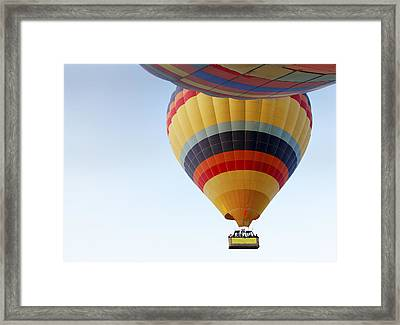 Abstract Hot Air Balloons Framed Print by Kantilal Patel