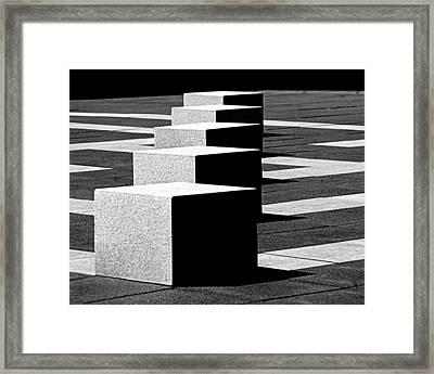Abstract In Black And White Framed Print by Tam Graff