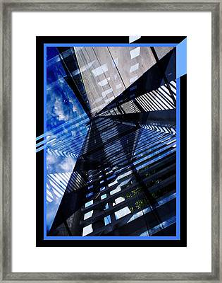 Abstract In Blue And Cement Framed Print by Matthew Green