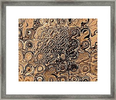 Abstract In Brown Framed Print