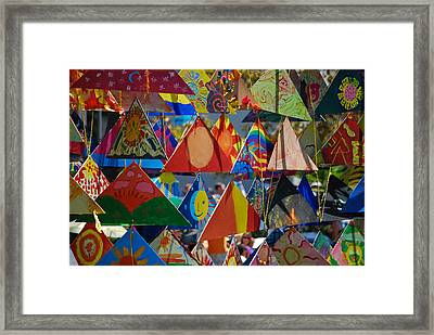 Abstract In Triangles Framed Print by Peggy Zachariou