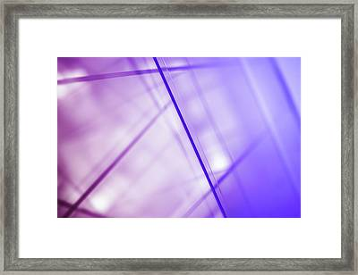 Abstract Intersecting Lines On A Glass Surface Framed Print by Ralf Hiemisch