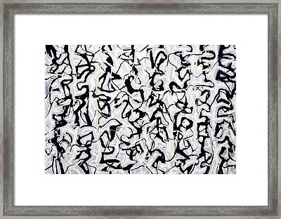 Abstract Japanese Calligraphy  Framed Print