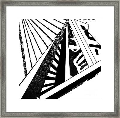 Abstract Jewelry Pin Framed Print by Christine Perry
