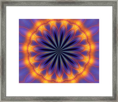 Abstract Kaleidoscope Framed Print by David Lane