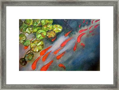 Abstract Koi Framed Print by Ann Marie Napoli