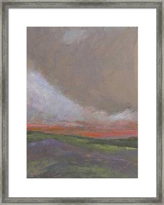 Abstract Landscape - Scarlet Light Framed Print