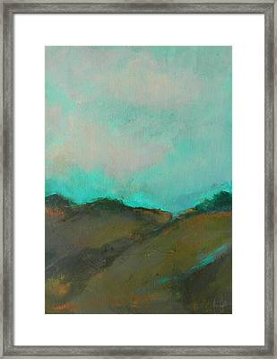 Abstract Landscape - Turquoise Sky Framed Print
