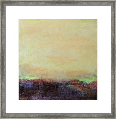 Abstract Landscape - Rose Hills Framed Print