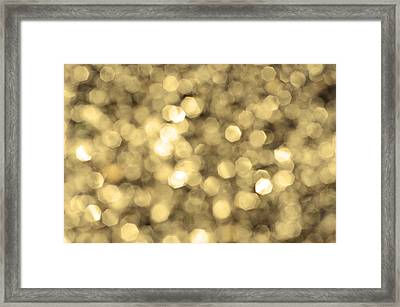 Abstract Lights Golden Framed Print