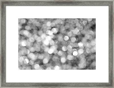 Abstract Lights Monochrome Framed Print