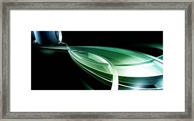 Abstract Lines, Leaf Shape Framed Print