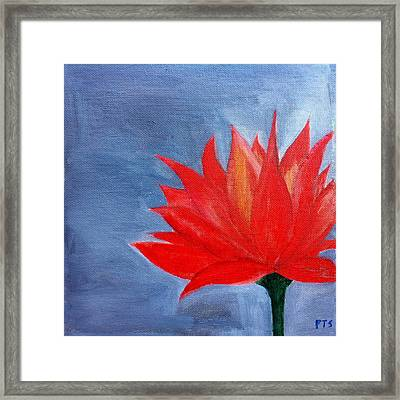 Abstract Lotus Framed Print by Prachi  Shah