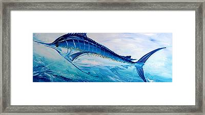Abstract Marlin Framed Print by J Vincent Scarpace