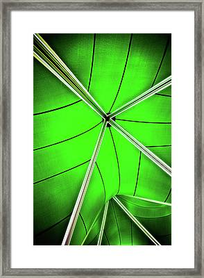 Abstract Of Green Framed Print by Meirion Matthias