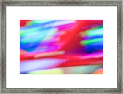 Abstract Oil Background Framed Print by Tom Gowanlock