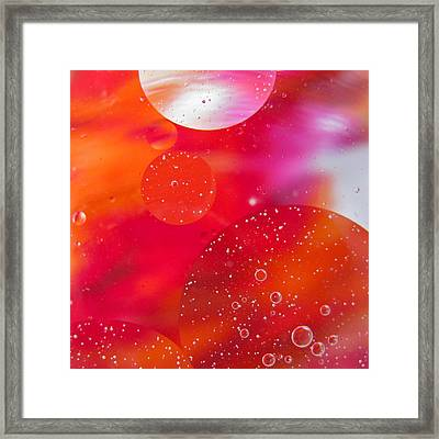 Abstract Orange Framed Print