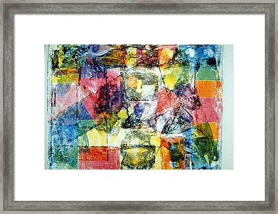 Abstract Painting Framed Print by David Deak