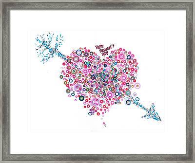 Abstract Pattern Valentine Framed Print by Regina Valluzzi