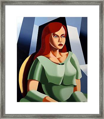 Abstract Portrait Oil And Acrylic Painting By Northern California Artist Mark Webster Framed Print by Mark Webster
