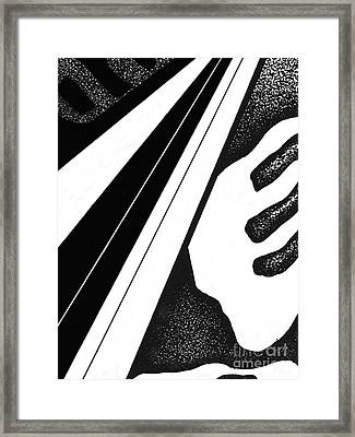 Framed Print featuring the drawing Abstract Postcard 4 by Christine Perry