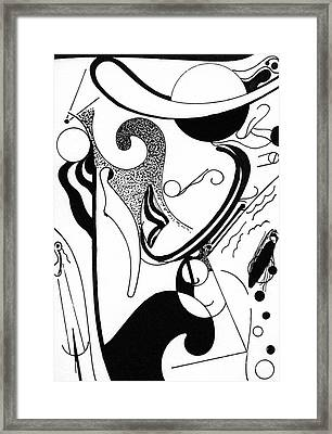 Abstract Postcard 5 Framed Print by Christine Perry