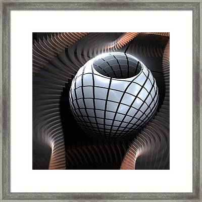 Abstract Pot And Waves  Framed Print by Kim French