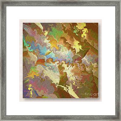 Abstract Puzzle Framed Print by Deborah Benoit
