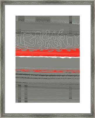 Abstract Red 3 Framed Print