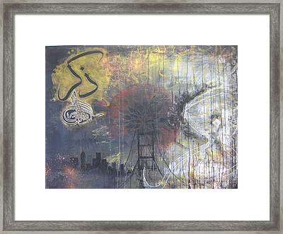 Abstract Remeber Night And Day Framed Print by Salwa  Najm