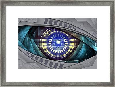 Abstract Robot Eye Framed Print by Nattapon Wongwean