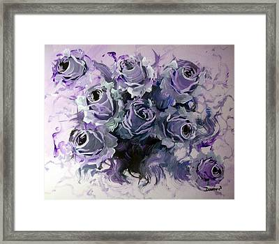 Abstract Roses Bouquet Framed Print by Raymond Doward