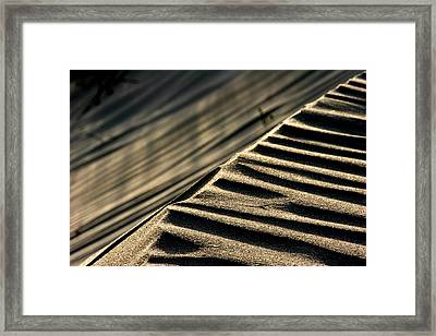 Abstract Sand 1 Framed Print by Arie Arik Chen