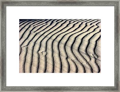 Abstract Sand 5 Framed Print by Arie Arik Chen
