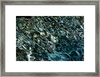 Abstract Sea 5 Framed Print by Arie Arik Chen