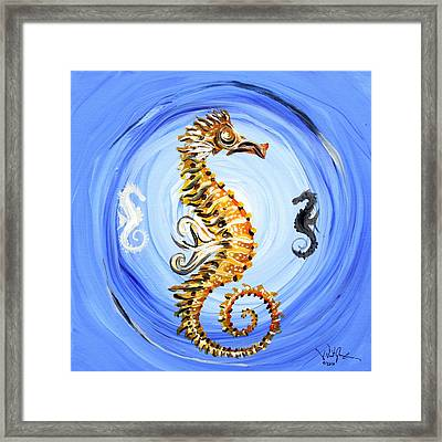 Abstract Sea Horse Framed Print