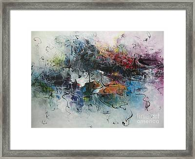 Abstract Seascape00117 Framed Print by Seon-Jeong Kim