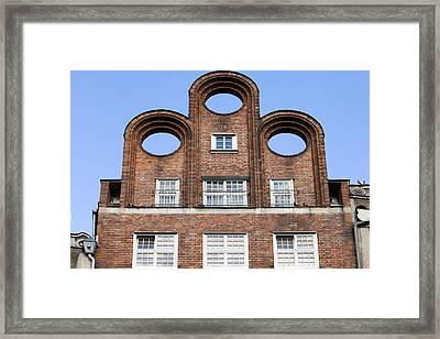 Abstract Shape Architectural Detail Framed Print