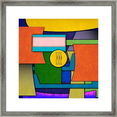 Abstract Shapes Color One Framed Print by Gary Grayson