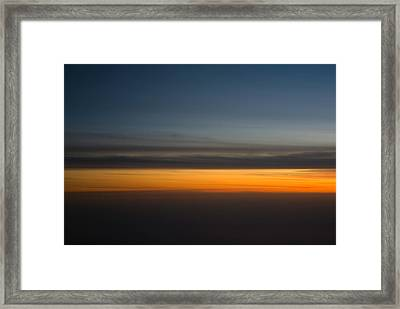 Abstract Sky Through A Plane Window Framed Print